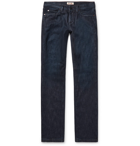 Loro Piana Cashmere-lined Denim Jeans - Dark Denim