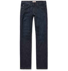 Loro Piana Cashmere-Lined Denim Jeans