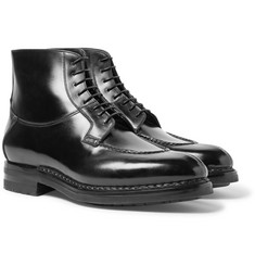 Santoni - Split-Toe Leather Boots