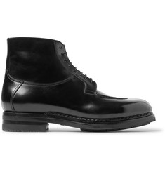 Santoni Split-Toe Leather Boots