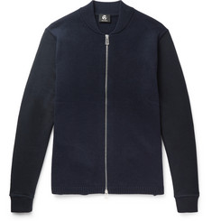 PS by Paul Smith Jersey-Panelled Wool Zip-Up Cardigan