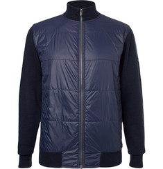 Dunhill Links Newmill Quilted Shell and Wool Zip-Up Golf Jacket