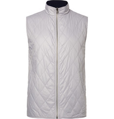 Dunhill Links Fraser Reversible Quilted Shell and Wool Golf Gilet