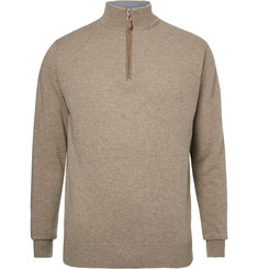 Dunhill Links Cashmere Half-Zip Golf Sweater