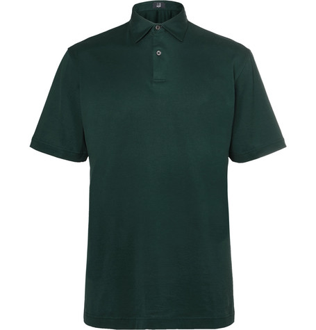 dunhill links male cottonjersey golf polo shirt