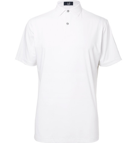 dunhill links male stretchjersey golf polo shirt