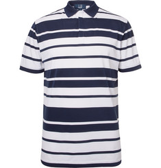 Dunhill Links Blair Striped Stretch-Piqué Golf Polo Shirt