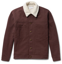 Fanmail Sherpa-Trimmed Organic Cotton-Twill Jacket