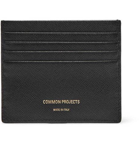 Common Projects Cross-Grain Leather Cardholder In Black