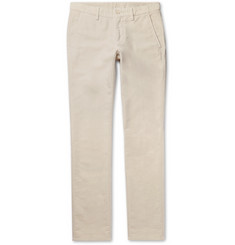 Aspesi Slim-Fit Cotton-Velvet Trousers