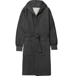 Reigning Champ Mélange Fleece-Back Cotton-Blend Jersey Hooded Robe