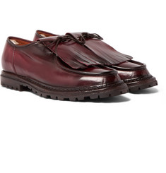 Officine Creative Voltaire Burnished-Leather Kiltie Derby Shoes