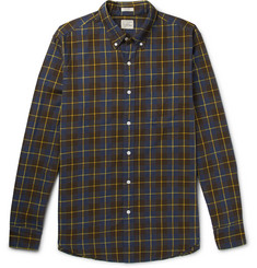 J.Crew Vernon Button-Down Collar Checked Cotton Shirt