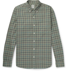 J.Crew Aiden Slim-Fit Button-Down Collar Checked Cotton Oxford Shirt