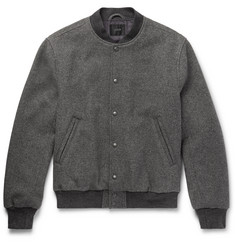 J.Crew Stadium Wool-Blend Bomber Jacket