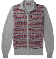 Loro Piana - Fair Isle Cashmere and Silk-Blend Zip-Up Cardigan