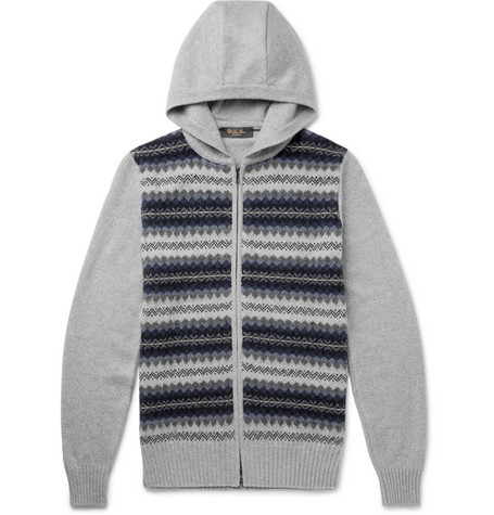 Buy Cheap 100% Authentic 2018 New Cheap Price Fair Isle Cashmere And Silk-blend Zip-up Hoodie Loro Piana Low Shipping Cheap Online LqKr1F