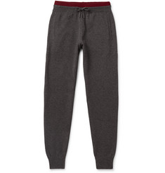 Loro Piana Slim-Fit Contrast-Tipped Silk and Cashmere-Blend Sweatpants