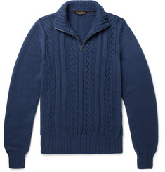 Loro Piana Slim-Fit Baby Cashmere Half-Zip Sweater