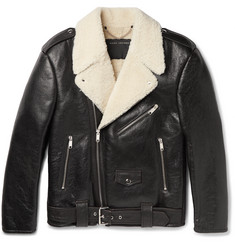 Marc Jacobs Grand Prix Oversized Shearling Biker Jacket