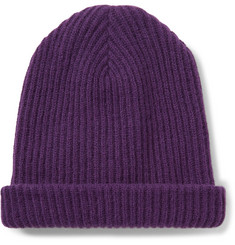 John Elliott Ribbed Wool and Angora-Blend Beanie