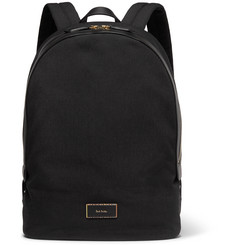 Paul Smith - Leather-Trimmed Canvas Backpack