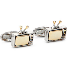Paul Smith - TV Silver and Gold-Tone Cufflinks