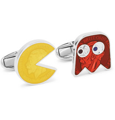 Paul Smith PAC-MAN Enamelled Silver-Tone Cufflinks