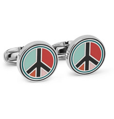 Paul Smith - Peace Enamelled Silver-Tone Cufflinks