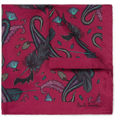 Paul Smith Printed Silk Pocket Square