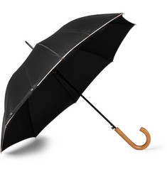 Paul Smith - Walker Stripe-Trimmed Wood-Handle Umbrella