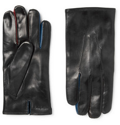 Paul Smith Contrast-Trimmed Leather Gloves