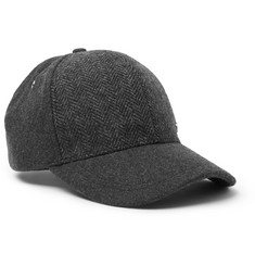 Paul Smith Herringbone Wool Baseball Cap