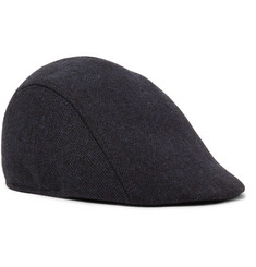 Paul Smith Manjit Herringbone Wool-Tweed Flat Cap
