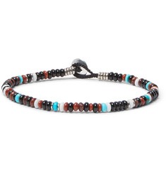 Mikia Onyx, Turquoise and Red Jasper Bracelet