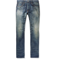 Fabric-Brand & Co - Shaz Slim-Fit Distressed Selvedge Denim Jeans