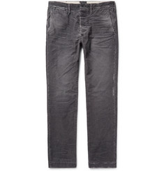 Fabric-Brand & Co Meron Slim-Fit Distressed Cotton-Blend Corduroy Trousers