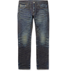 Fabric-Brand & Co Jacob Slim-Fit Distressed Selvedge Denim Jeans