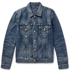 Fabric-Brand & Co Melik Slim-Fit Distressed Denim Jacket