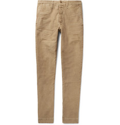 Fabric-Brand & Co - Slim-Fit Distressed Cotton Chinos
