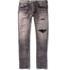 Fabric-Brand & Co - Meyer Slim-Fit Distressed Denim Jeans
