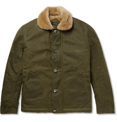 Freemans Sporting Club Shearling-Lined Waxed-Cotton Jacket
