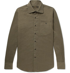 Freemans Sporting Club Cutaway-Collar Cotton Shirt