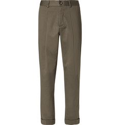 Freemans Sporting Club Tolkan Pleated Cotton Trousers