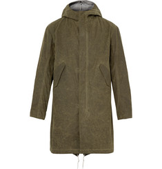 Freemans Sporting Club Waxed-Cotton Hooded Parka with Detachable Liner
