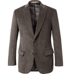 Freemans Sporting Club Grey Cotton-Corduroy Blazer