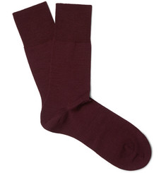 Falke - Airport Mélange Virgin Wool-Blend Socks