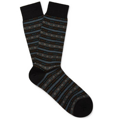 Pantherella Fulwell Patterned Merino Wool-Blend Socks