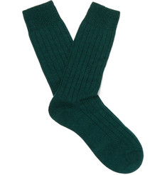 Pantherella Packington Ribbed Merino Wool-Blend Socks