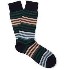 Pantherella Sudbury Striped Merino Wool-Blend Socks